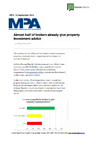 Almost half of brokers already give property investment adviser page 1