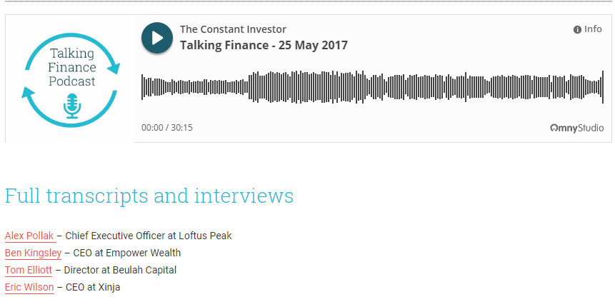 The Constant Investor Podcast Picture